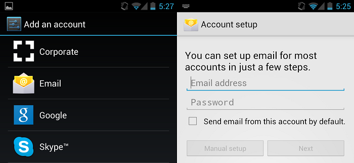 How to add an iCloud email address to Android