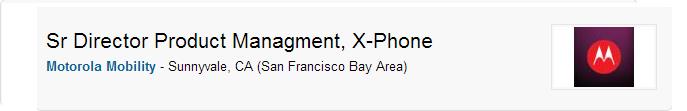 Existence of Motorola X-Phone Confirmed by Motorola Job Listing