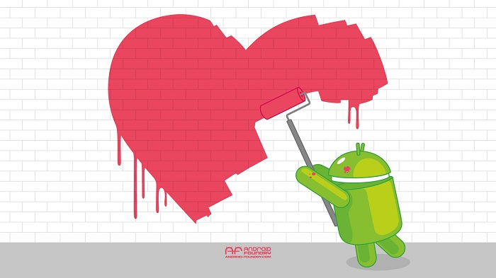 #Android's Daily Wallpaper: Paint me a Heart