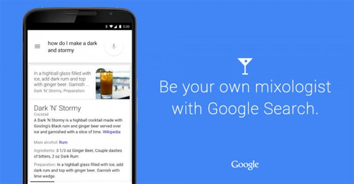 Google Search Can Now Tell You How to Make a Drink