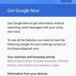 Google Now during setup